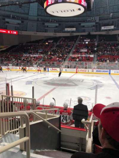 Bojangles' Coliseum, section: 123, row: F, seat: 14