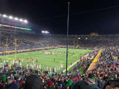 Notre Dame Stadium, section: 16, row: 45, seat: 28-29