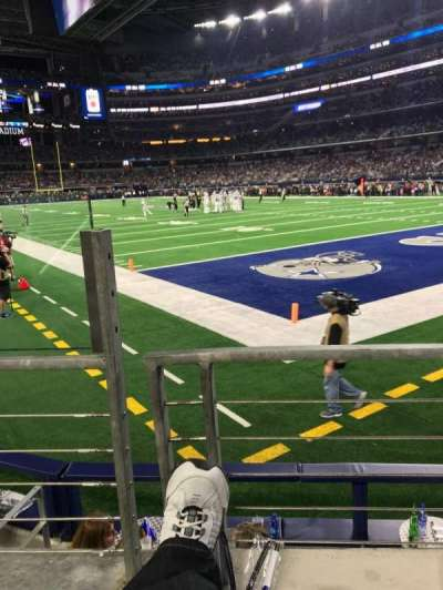 AT&T Stadium, section: 101, row: 1, seat: 12