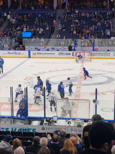Amalie Arena, section: 116, row: S, seat: 8
