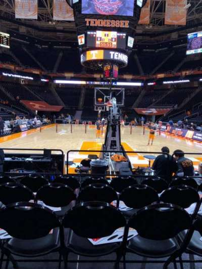 Thompson-Boling Arena, section: 113, row: 1, seat: 12