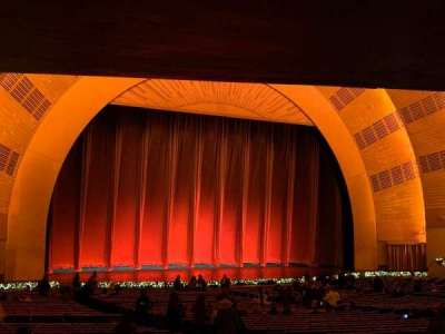 Radio City Music Hall section Orchestra 6