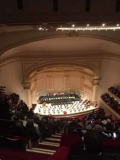 Carnegie Hall section Upper Balcony LC