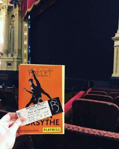 Boston Opera House, section: Orchestra Right, row: E, seat: 50