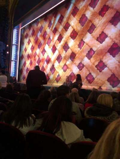 Brooks Atkinson Theatre, section: Orch, row: E, seat: 16
