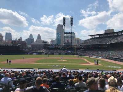 Comerica Park, section: 132, row: 30, seat: 14