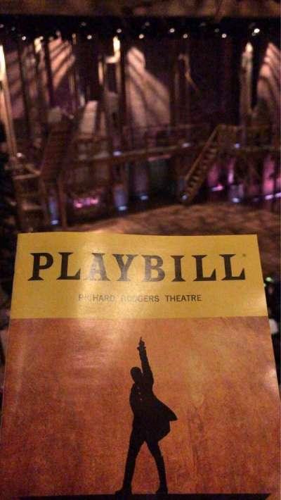 Richard Rodgers Theatre section Mezzanine