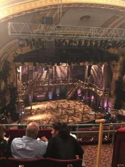 Richard Rodgers theatre , section: Rear left mezz, row: D, seat: 17