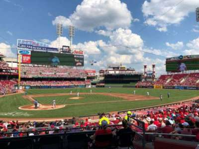 Great American Ball Park, section: 126, row: B, seat: 3