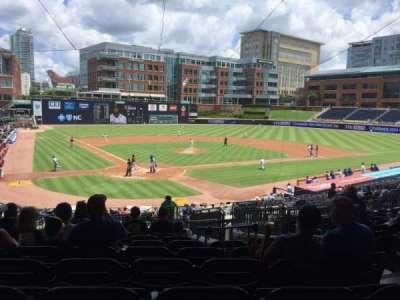 Durham Bulls Athletic Park, section: 202, row: W, seat: 17