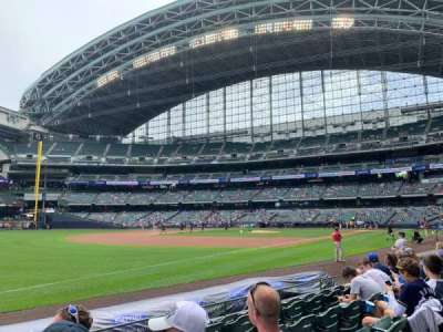 Miller Park, section: FOB126, row: 6, seat: 22