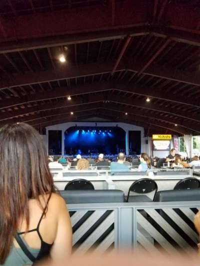 Bank of New Hampshire Pavilion , section: 3D, row: 2, seat: 2
