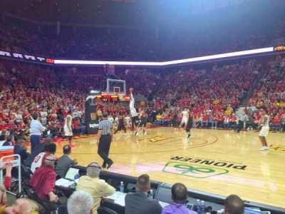 Hilton Coliseum, section: 111, row: 4, seat: 1