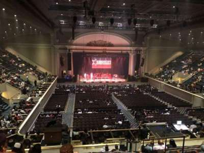 DAR Constitution Hall, section: M, row: N, seat: 5