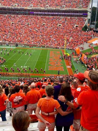 Memorial Stadium, Clemson section UB