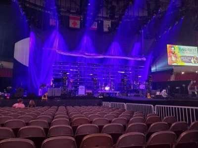 Wells Fargo Arena, section: Floor Left, row: 14, seat: 7