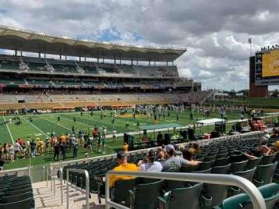 McLane Stadium, section: 109, row: 17, seat: 1