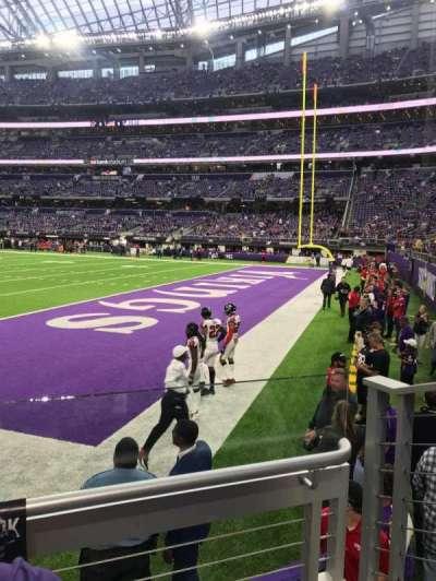 U.S. Bank Stadium, section: 103, row: 2, seat: 3