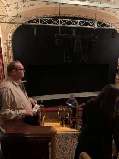 Bernard B. Jacobs Theatre, section: Mezzanine L, row: F, seat: 1