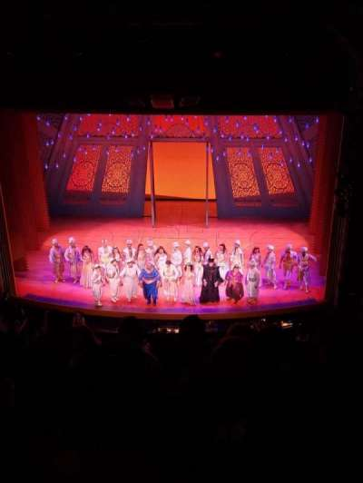 New Amsterdam Theatre, section: Orchestra C, row: F, seat: 106