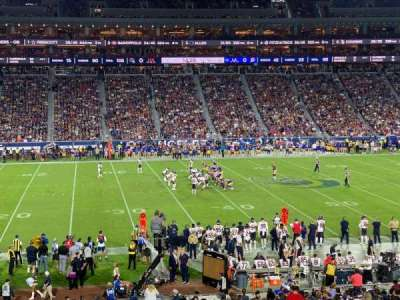 Los Angeles Memorial Coliseum, section: 123A, row: 34, seat: 6