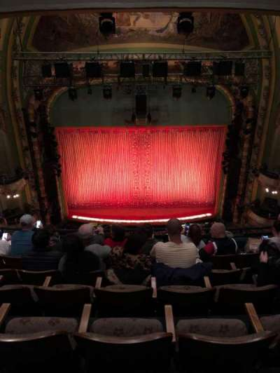 New Amsterdam Theatre, section: Balcony C, row: F, seat: 109