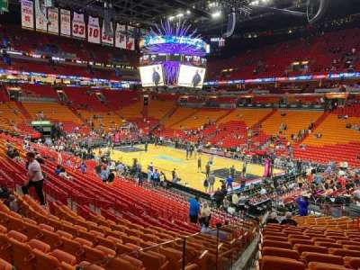 American Airlines Arena section 115