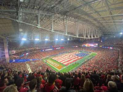 State Farm Stadium, section: 452, row: 10, seat: 21