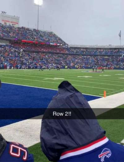 Highmark Stadium, section: 117, row: 2, seat: 3