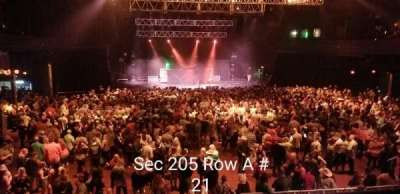 Revention Music Center, section: 205, row: A, seat: 21