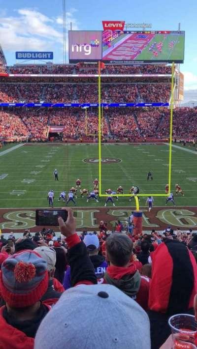 Levi's Stadium, section: 103, row: 26, seat: 22