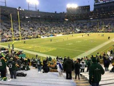 Lambeau Field, section: 106, row: 21, seat: 1