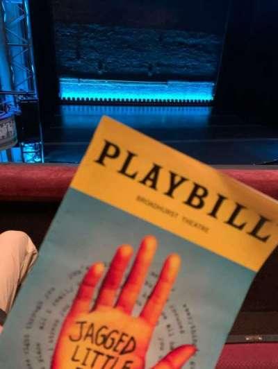 Broadhurst Theatre, section: Mezzanine L, row: B, seat: 3