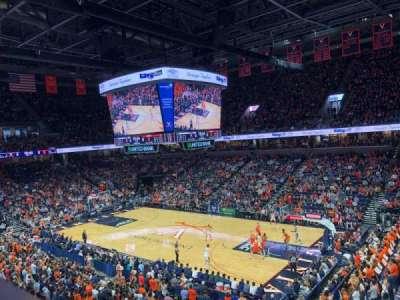 John Paul Jones Arena, section: 301, row: A, seat: 10