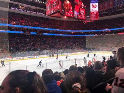 Wells Fargo Center, section: 123, row: 8, seat: 10
