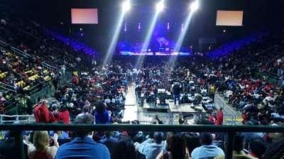 EagleBank Arena, section: 109, row: G, seat: 1