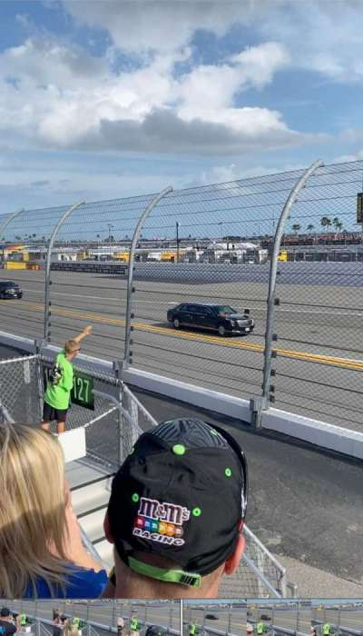 Daytona International Speedway, section: 127, row: 3, seat: 12