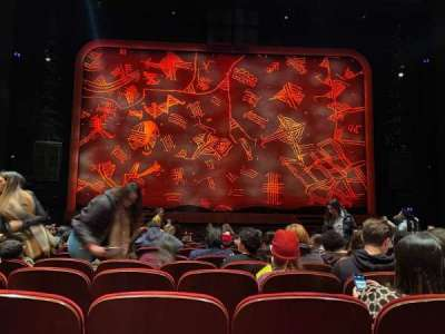 Minskoff Theatre, section: Orchestra C, row: P, seat: 110