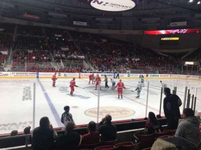 Bojangles' Coliseum, section: 107, row: F, seat: 9