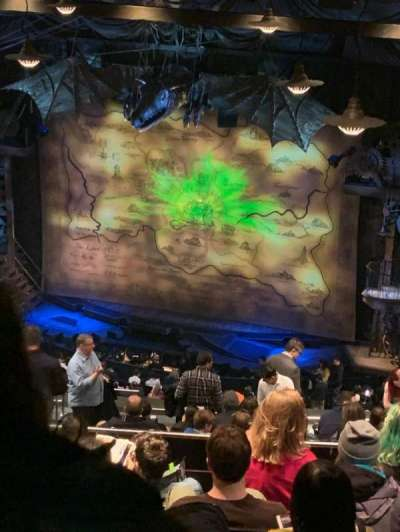 Gershwin Theatre, section: Rear Mezzanine R, row: N, seat: 14