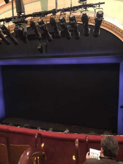 Booth Theatre, section: Mezzanine R, row: D, seat: 2