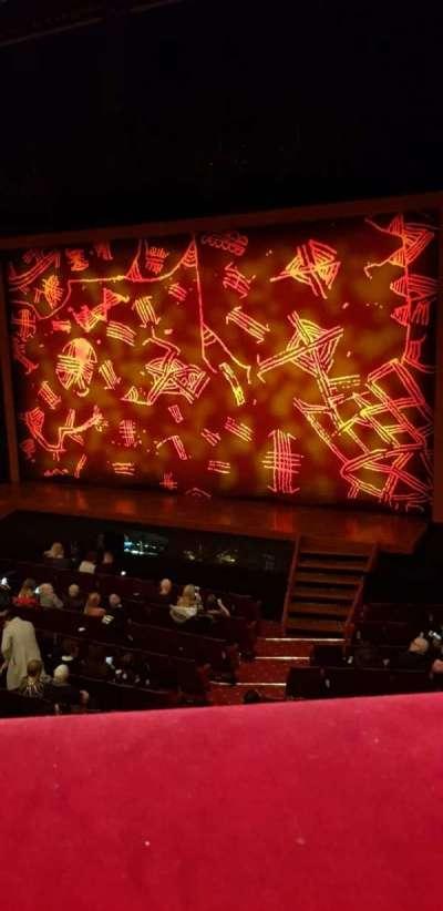 Edinburgh Playhouse, section: Circle, row: A, seat: 13