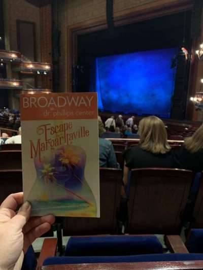 Walt Disney Theatre - Dr. Phillips Center, section: Upper Orchestra R, row: V, seat: 24
