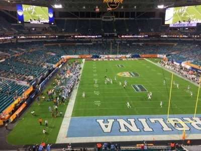 Hard Rock Stadium, section: 334, row: 1, seat: 1