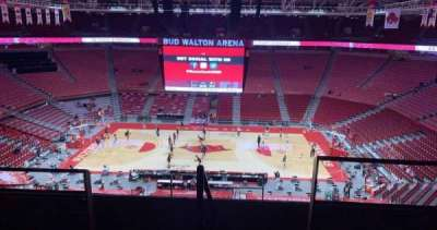 Bud Walton Arena, section: 218, row: 5, seat: 104