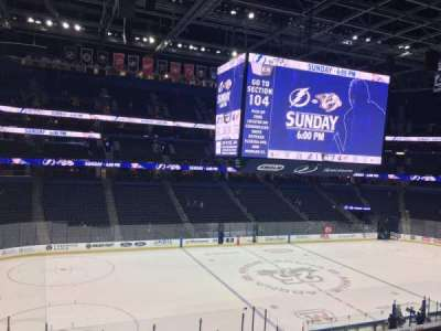 Amalie Arena, section: 203, row: B, seat: 9