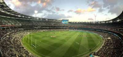 Melbourne Cricket Ground, section: Q29, row: A, seat: 5