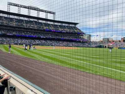 Coors Field, section: 116, row: 2, seat: 5