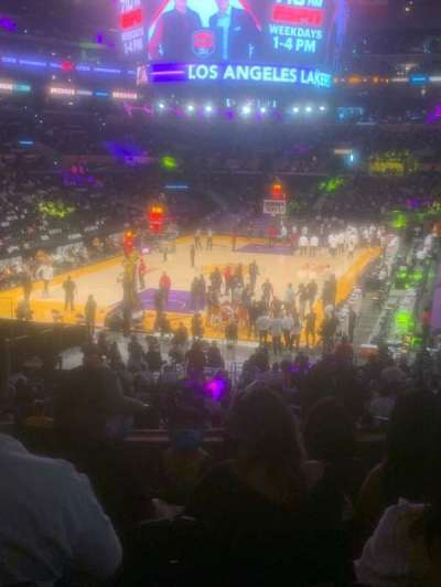 Staples Center, section: 206, row: 5, seat: 7