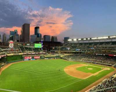 Target Field, section: 226, row: 3, seat: 10